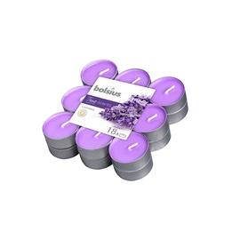 Aromātiskā svece Bolsius Lavender, 18 gab. , 4 h