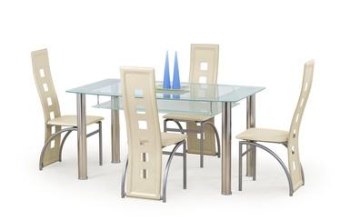 Pusdienu galds Halmar Cristal Glass, 1500x900x770 mm