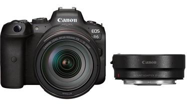 Digitālā fotokamera Canon + RF 24-105 f/4L IS USM + Mount Adapter EF-EOS R EOS R6