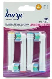 Насадка Lov'yc 3D Clean Medium, белый, 4 шт.