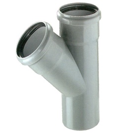 Kanalizācijas caurules trejgabals Bees D50/110mm, 45°, PP