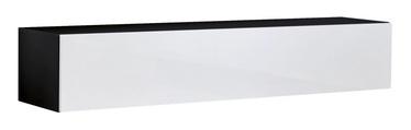 ТВ стол ASM RTV Fly 30, белый/черный, 1600x400x300 мм