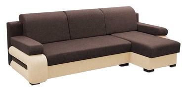 Stūra dīvāns Idzczak Meble Grey Brown/Beige, labais, 260 x 140 x 72 cm