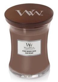 Ароматическая свеча WoodWick Stone Washed Suede Brown, 275 г
