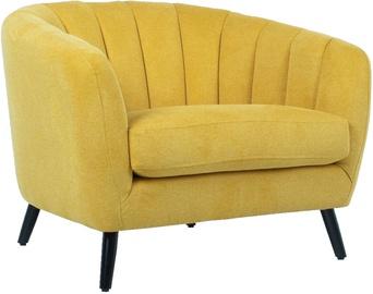 Atzveltnes krēsls Home4you Melody 20206, dzeltena, 100x88x76 cm