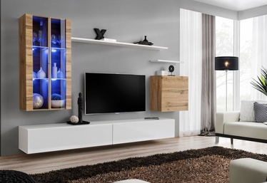ASM Switch XII Wall Unit White/Wotan Oak