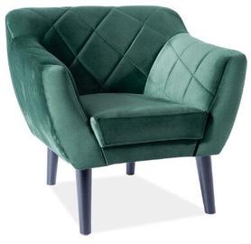 Atzveltnes krēsls Signal Meble Scandinavian Karo 1 Velvet, zaļa, 78 cm x 75 cm x 76 cm
