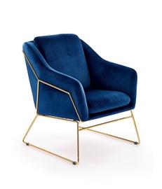 Кресло Halmar Soft 3 Dark Blue/Gold, 69x76x81 см