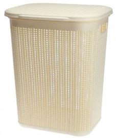 Veļas kaste Galicja Plastic Laundry Basket Beige 50l