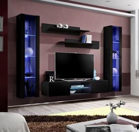 Dzīvojamās istabas mēbeļu komplekts ASM Fly O2 Black