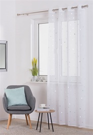 Domoletti Day Curtains Tresse Universe 140x250cm White