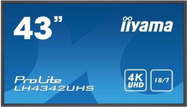 "Monitors Iiyama ProLite LH4342UHS-B1, 42.5"", 9 ms"