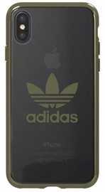 Adidas OR Clear Back Case For Apple iPhone X/XS Green