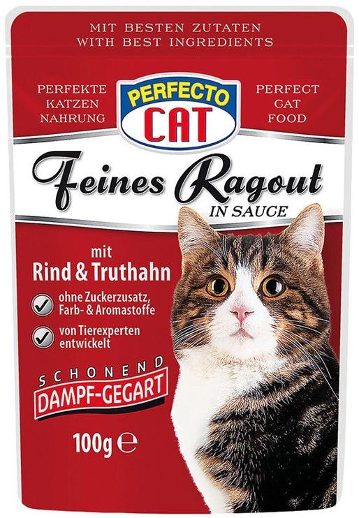 Perfecto Cat Fine Ragout Beef & Turkey 100g