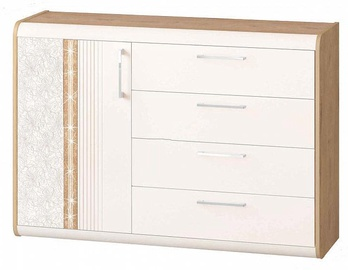 DaVita Adel 65.34 Chest Of Drawers Bunratti Oak/Vanilla