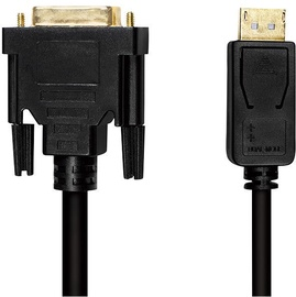 LogiLink Cable DisplayPort to DVI Black 2m