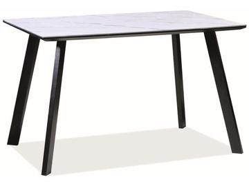 Pusdienu galds Signal Meble Modern Samuel, balta/melna, 1200x800x750mm