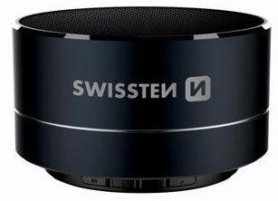 Bezvadu skaļrunis Swissten Metal, melna, 3 W