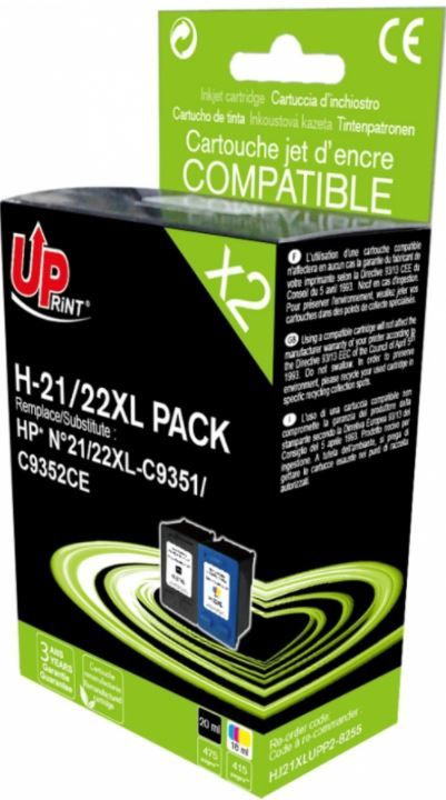 Uprint Cartridge for HP Black 20ml Yellow 18ml Magenta 18ml Cyan 18ml
