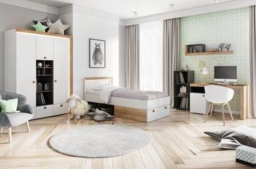 Bērnu istabas mēbeļu komplekts Szynaka Meble Riva White/Oak/Black