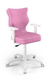 Bērnu krēsls Entelo Duo Size 6 VS08, balta/rozā, 400 mm x 1045 mm