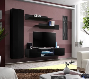 ASM Fly R1 Living Room Wall Unit Set Black