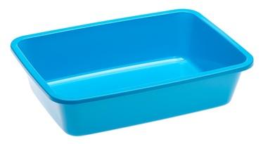 Кошачий туалет Ferplast Kitty 72042099, серый/фиолетовый/голубой, oткрытый, 410x300x100 мм