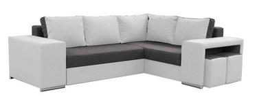 Stūra dīvāns Idzczak Meble Macho Dark Grey/White, labais, 275 x 215 x 85 cm