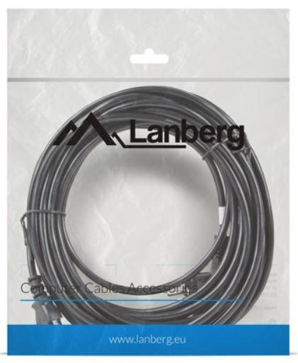 Lanberg Cable IEC320 C13 / Schuko 10m Black