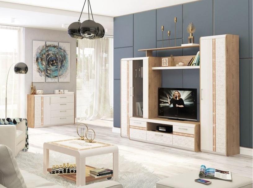 DaVita Adel 65.31 Hanging Shelf Bunratti Oak