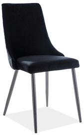 Ēdamistabas krēsls Signal Meble Piano B Velvet 99, melna