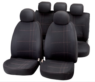 Bottari Embroidery Seat Cover Set Black Grey
