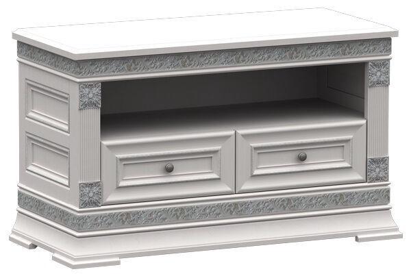 ТВ стол ZOV Patricija T1-100, серебристый, 1082x468x637 мм