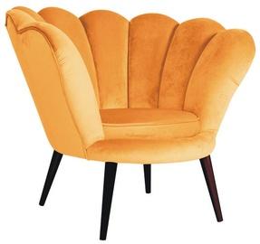 Atzveltnes krēsls Signal Meble Magnolia Velvet Curry/Wenge, 95x60x87 cm
