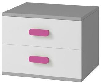 Naktsgaldiņš Idzczak Meble Smyk II 22 Grey/Pink
