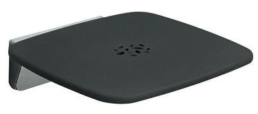 Gedy Prima Classe Tilt-Up Shower Seat 6083 Black/Chrome