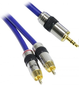 InLine Cinch/Jack Cable 2xRCA To 3.5mm 3m Blue