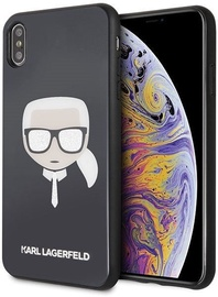 Karl Lagerfeld Iconic Glitter Karl's Head Back Case For Apple iPhone XS Max Black