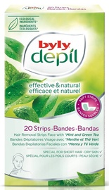 Byly Depil Face Hair Removal Strips 12pcs Mint & Green Tea