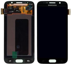 Запасные части для мобильных телефонов Samsung Galaxy S6 Black LCD Screen