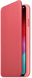Apple Leather Folio Case For Apple iPhone XS Peony Pink