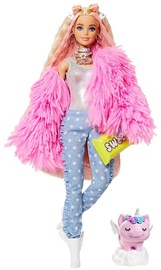 Lelle Barbie Extra Pink Coat With Pig Unicorn GRN28