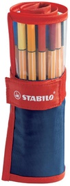 Stabilo Point 88 25pcs Red/Blue Case