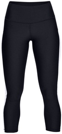 Under Armour HeatGear Ankle Crop Branded Leggings 1329151-002 Black/White S
