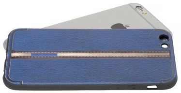 Mocco Trendy Grid And Stripes Pattern 3 Back Case For Apple iPhone 7/8 Blue