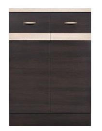Нижний кухонный шкаф Black Red White Junona Line D2D/60/82 Wenge/Sonoma Oak, 600x470x852 мм