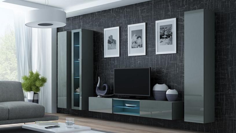 Cama Meble Vigo 180 Glass Case Grey/Grey Gloss