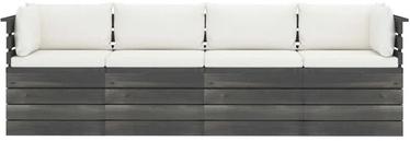 Садовый диван VLX 4-Seater Garden Pallet Sofa 3061745, коричневый/кремовый