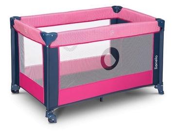 Ceļojuma gultiņa Lionelo Stefi Pink Rose