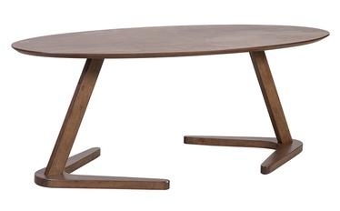 Kafijas galdiņš Home4you Lana Walnut, 1200x600x450 mm